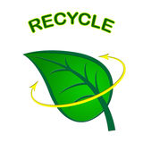 Recycle Leaf Represents Earth Friendly And Conservation Royalty Free Stock Photo