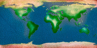 Recycle leather world map background Stock Photography