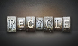 Recycle Letterpress Concept Royalty Free Stock Photo