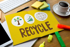RECYCLE Life Preservation Protection Growth Project About Business Growth royalty free stock photos