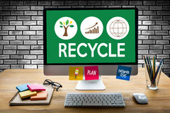 RECYCLE Life Preservation Protection Growth Project About Business Growth stock images
