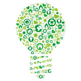 recycle light bulb Stock Images