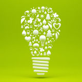Recycle Light Bulb Royalty Free Stock Photo