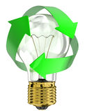 Recycle light bulb Royalty Free Stock Photos