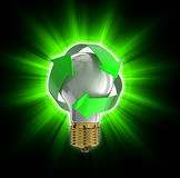 Recycle light bulb Stock Photos