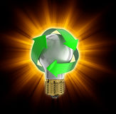Recycle light bulb Royalty Free Stock Images
