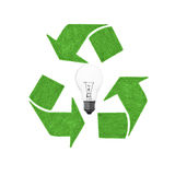Recycle lightbulb Stock Photography