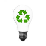 Recycle lightbulb Royalty Free Stock Photography