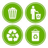 Recycle littering icon Royalty Free Stock Photo