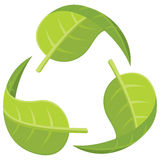 Recycle Logo. Illustration of leaves forming the recycle logo Stock Images