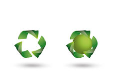 Recycle logo. Like web button on white stock image