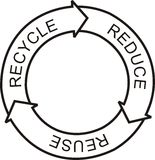 Recycle logo Stock Photo