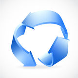 Recycle Logo blue Stock Image