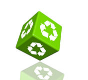 Recycle logo concept dice Royalty Free Stock Image