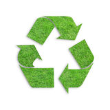 Recycle logo concept. With grasses royalty free stock photography