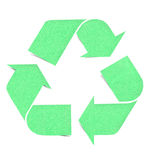 Recycle logo graph paper craft. By cork board Stock Photos