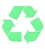Recycle logo graph paper craft Stock Photos
