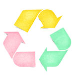 Recycle logo graph paper craft colorful Stock Images