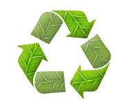 Recycle logo, green concept Royalty Free Stock Photos