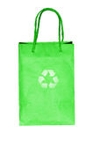 Recycle logo on paper bag Stock Photography