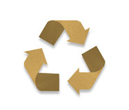 Recycle logo from recycle paper. On white background Stock Image