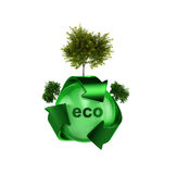 Recycle logo with tree Royalty Free Stock Photo