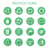 Recycle long shadow icons Royalty Free Stock Photography