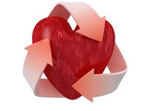 Recycle love Stock Images