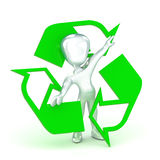 Recycle Man. A Colourful 3d Rendered Recycle Man Concept Illustration Stock Images