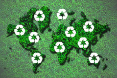 Recycle map Royalty Free Stock Photo