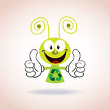 Recycle mascot cartoon character Stock Images