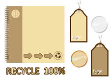 Recycle material book Stock Images