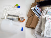 Recycle materials Royalty Free Stock Photography