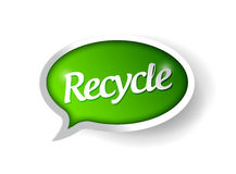 Recycle message illustration design Stock Image
