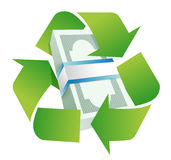Recycle monetary concept Stock Images