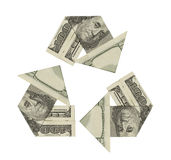 Recycle Money Royalty Free Stock Photos