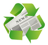 Recycle newspaper design Royalty Free Stock Image