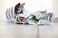 Recycle with newspapers Stock Photography