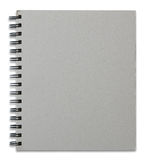 Recycle notebook cover isolated on white Royalty Free Stock Photography