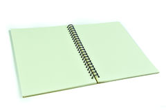 Recycle Notebook on a white background. stock photo
