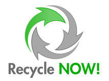Recycle NOW Vector Design Element Royalty Free Stock Images