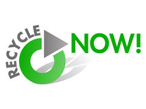 Recycle NOW Vector Design Element Stock Image