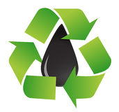 Recycle oil symbol Stock Photography