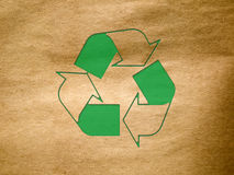 Recycle Old brown paper texture Royalty Free Stock Image