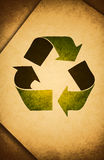 Recycle / old Paper. Protect the World from pollution Royalty Free Stock Image