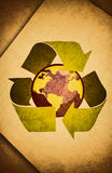 Recycle / old Paper. Protect the World from pollution Stock Photography