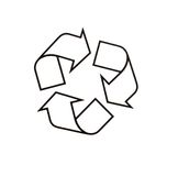 A recycle packing symbol Royalty Free Stock Photography