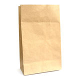 Recycle paper bag. Isolated on white background Royalty Free Stock Photography