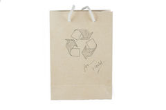 Recycle paper bag Stock Image