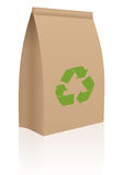 Recycle paper bag Stock Images